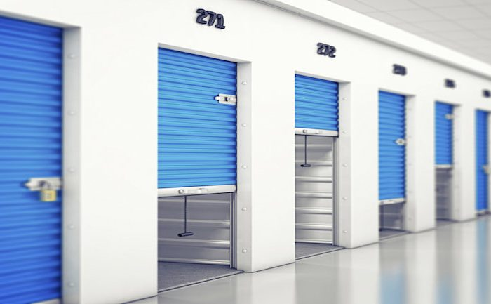 Who uses self-storage units on the Costa del Sol?
